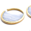 Large Muse Hoops in Brass with Blue Lace Agate from Buddha Jewelry