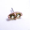 2 Stone Marquise Press-fit End in Gold from LeRoi with Peridot Stones