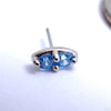 2 Stone Marquise Press-fit End in Gold from LeRoi with Arctic Blue Stones