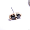 2 Stone Marquise Press-fit End in Gold from LeRoi with Black CZs