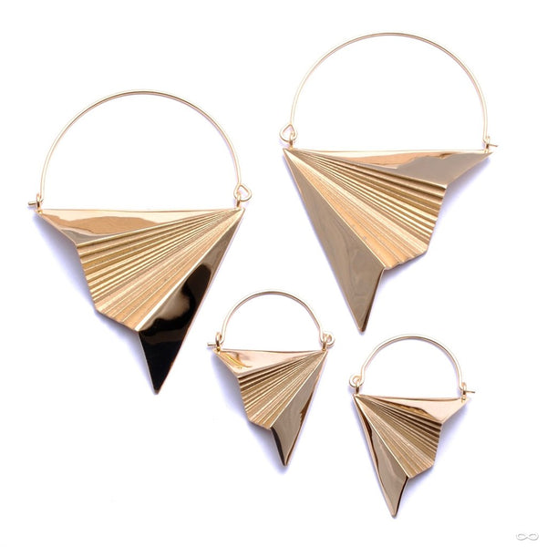 Vector Earrings from Tether Jewelry in Yellow Gold