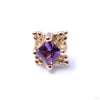 Princess Mini Kandy Press-fit End in Gold from BVLA with Amethyst
