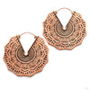 Reyes Earrings from Maya Jewelry in Copper