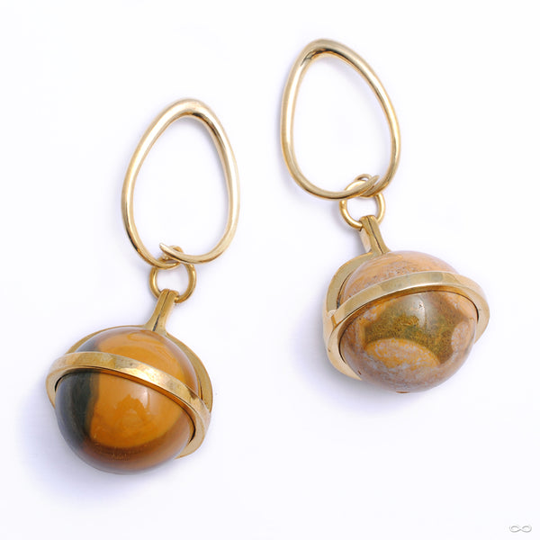 Ocean Jasper Globes with Brass Coils from Diablo Organics