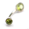 Round Bezel Navel Curve in White Gold with Peridot from BVLA