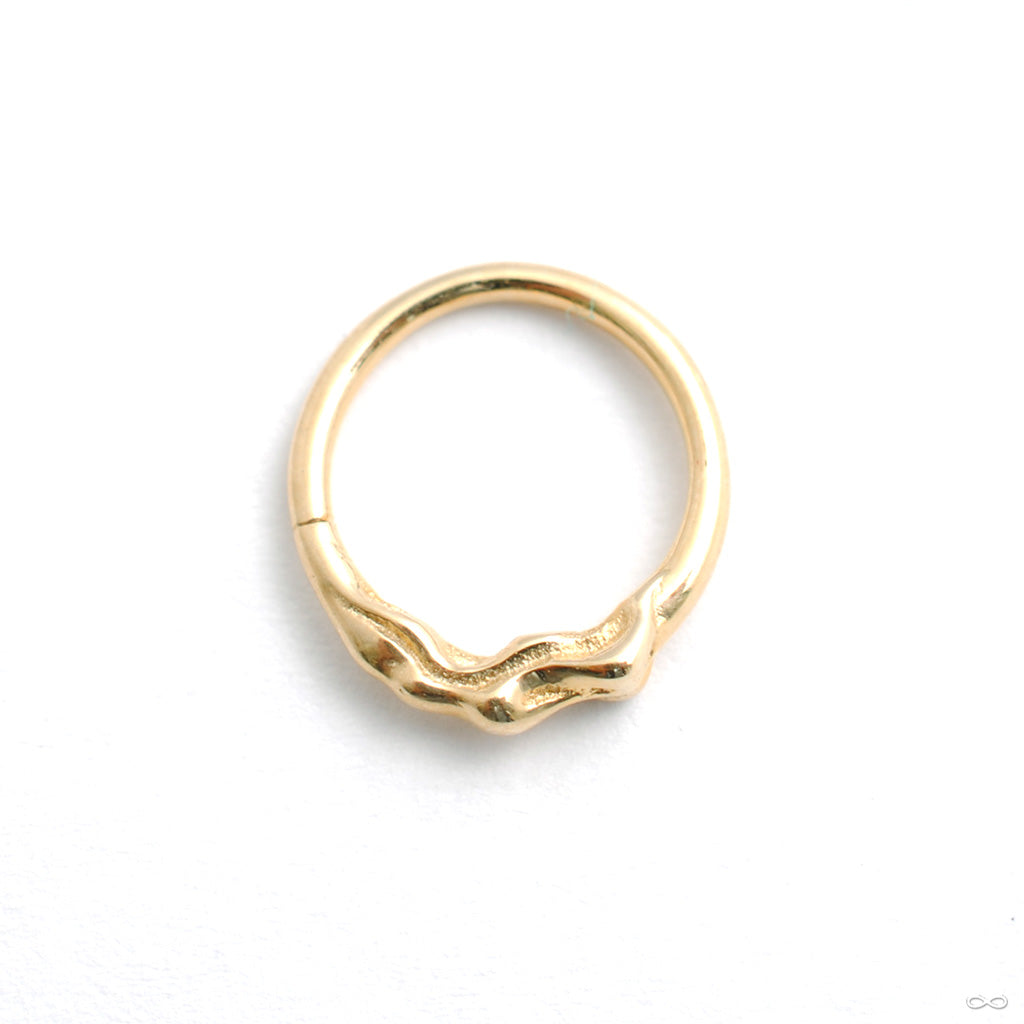 Cause and Effect Seam Ring in Gold from Pupil Hall in yellow gold