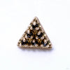6 Stone Triangle Press-fit End in Gold from LeRoi with Black