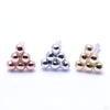 6 Bead Triangle Cluster Press-fit End in Gold from BVLA in Assorted Golds