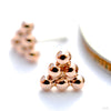 6 Bead Triangle Cluster Press-fit End in Gold from BVLA in Rose Gold