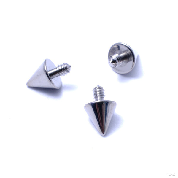 Cone Spike Threaded End in Titanium from Industrial Strength