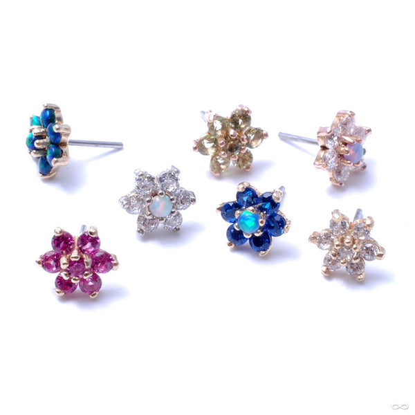 7 Stone Flower Press-fit End from LeRoi in Assorted Colors