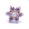 7 Stone Flower Press-fit End from LeRoi with Pink & White Opals