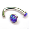 Classic Cups J-curve in White Gold with Purple Opals from BVLA