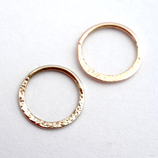 Hammered Seam Ring in Gold from Sacred Symbols in yellow gold