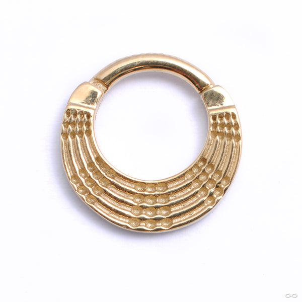 Quin Clicker from Tether Jewelry in yellow gold