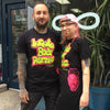 Andru Rogge & Maddie Akers wearing Infinite Body Piercing Fresh Prince Will Smith Black T-Shirt