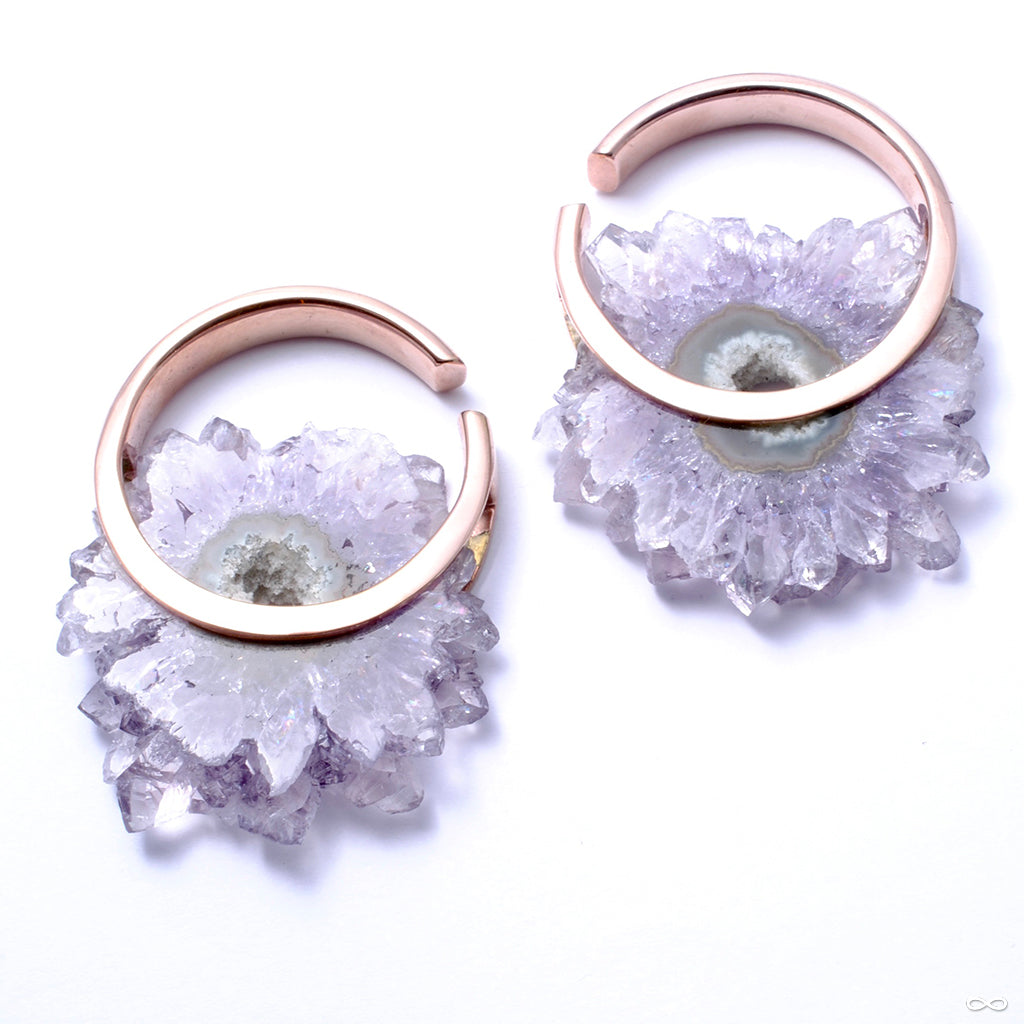 Halo in Rose Gold with Amethyst from Buddha Jewelry