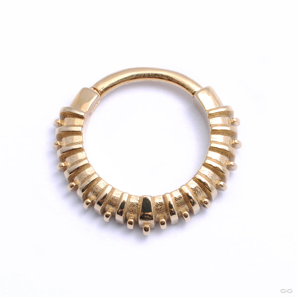 Omni Clicker from Tether Jewelry in yellow gold
