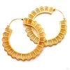 Portal Earrings from Maya Jewelry in Yellow-gold-plated Brass