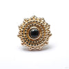 Afghan Press-fit End in Gold from BVLA with London Blue Topaz