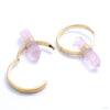 Alchemy Hoops in Yellow Gold with Rose Quartz from Buddha Jewelry