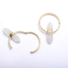 Alchemy Hoops in Brass with Crystal Quartz from Buddha Jewelry