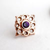 Angela Press-fit End in Gold from BVLA with Amethyst