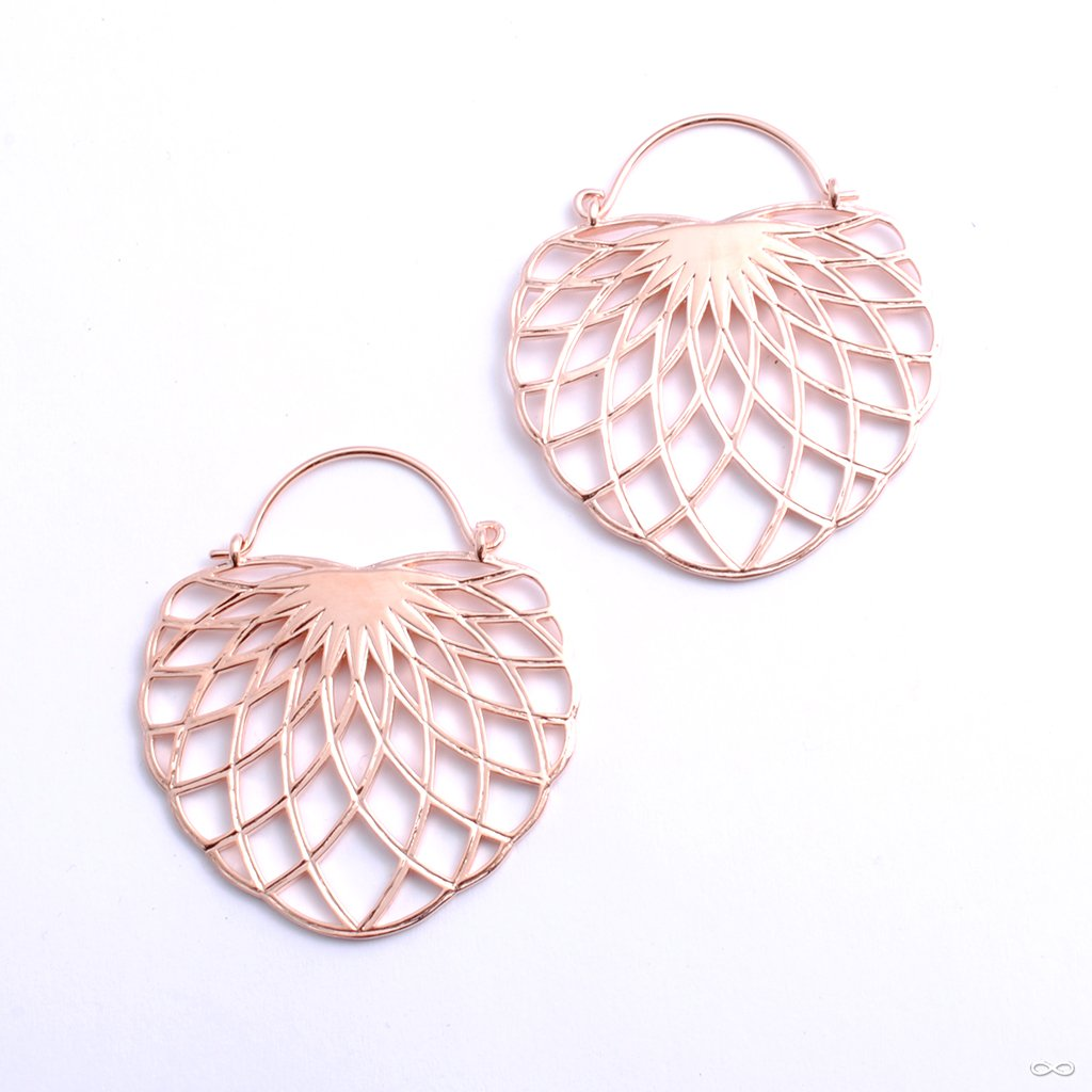 Aurora Earrings from Tether Jewelry in rose gold