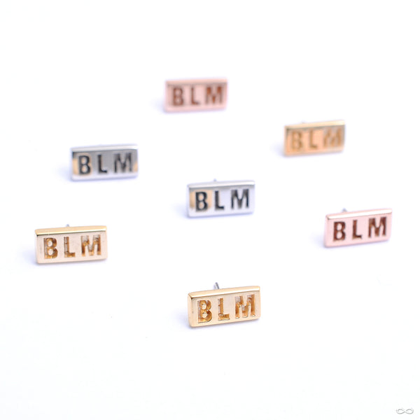 BLM Press-fit End in Gold from Quetzalli in assorted materials