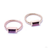 Baguette Bar Seam Ring in Gold from BVLA with Amethyst and Rhodolite