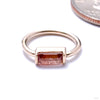 Baguette Bar Seam Ring in Gold from BVLA with Oregon sunstone