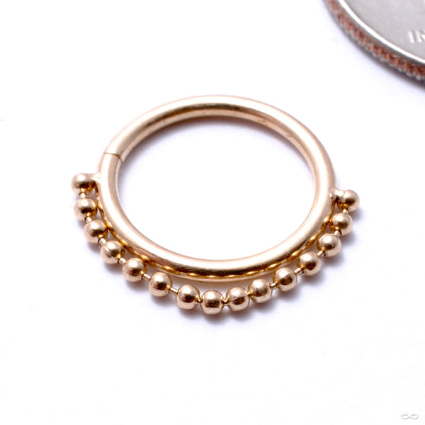 Ball Chain Seam Ring in Gold from Pupil Hall in yellow gold