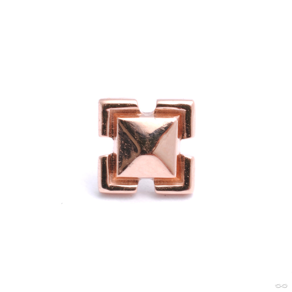 Beta 04 Press-fit End in Gold from Tether Jewelry in rose gold