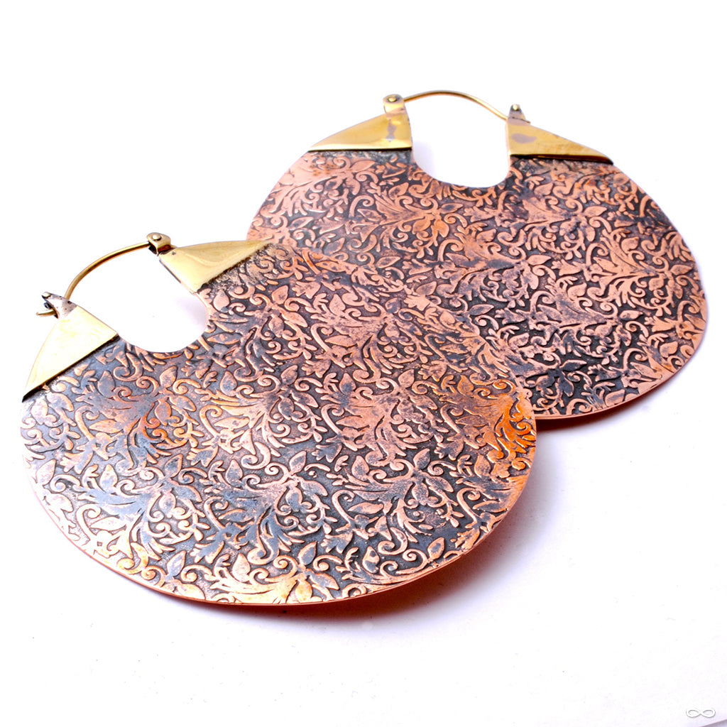 Between the Sheets Earrings from Maya Jewelry in Brass
