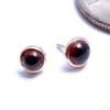 Bezel-set Cabochon Press-fit End in Gold from BVLA with garnet
