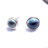 Bezel-set Cabochon Press-fit End in Gold from BVLA with swiss blue topaz