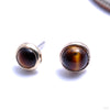 Bezel-set Cabochon Press-fit End in Gold from BVLA with tiger eye