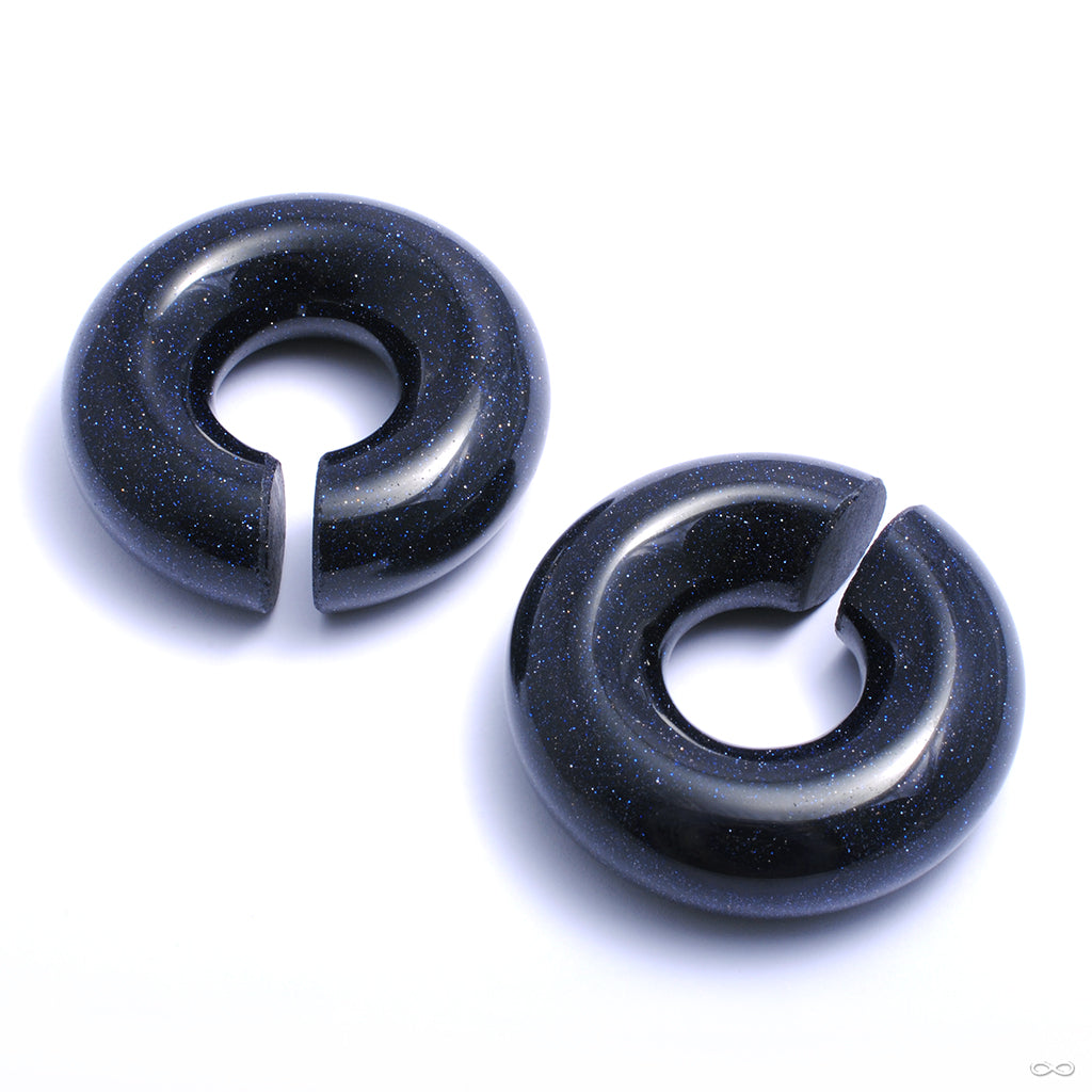 Blue Goldstone Rings from Diablo Organics