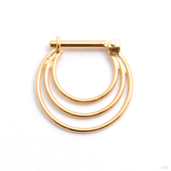 Brilliant Soul Hinged Ring in Gold from Quetzalli back view
