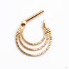 Brilliant Soul Hinged Ring in Gold from Quetzalli