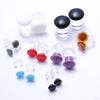 Color Front Plugs from 12g to 4g from Gorilla Glass in Assorted Sizes and Colors