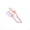 Chained Love Cuff from Tawapa in rose gold left ear