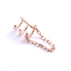 Chained Love Cuff from Tawapa in rose gold right ear