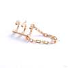 Chained Love Cuff from Tawapa in yellow gold left ear