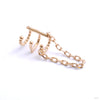 Chained Love Cuff from Tawapa in yellow gold right ear