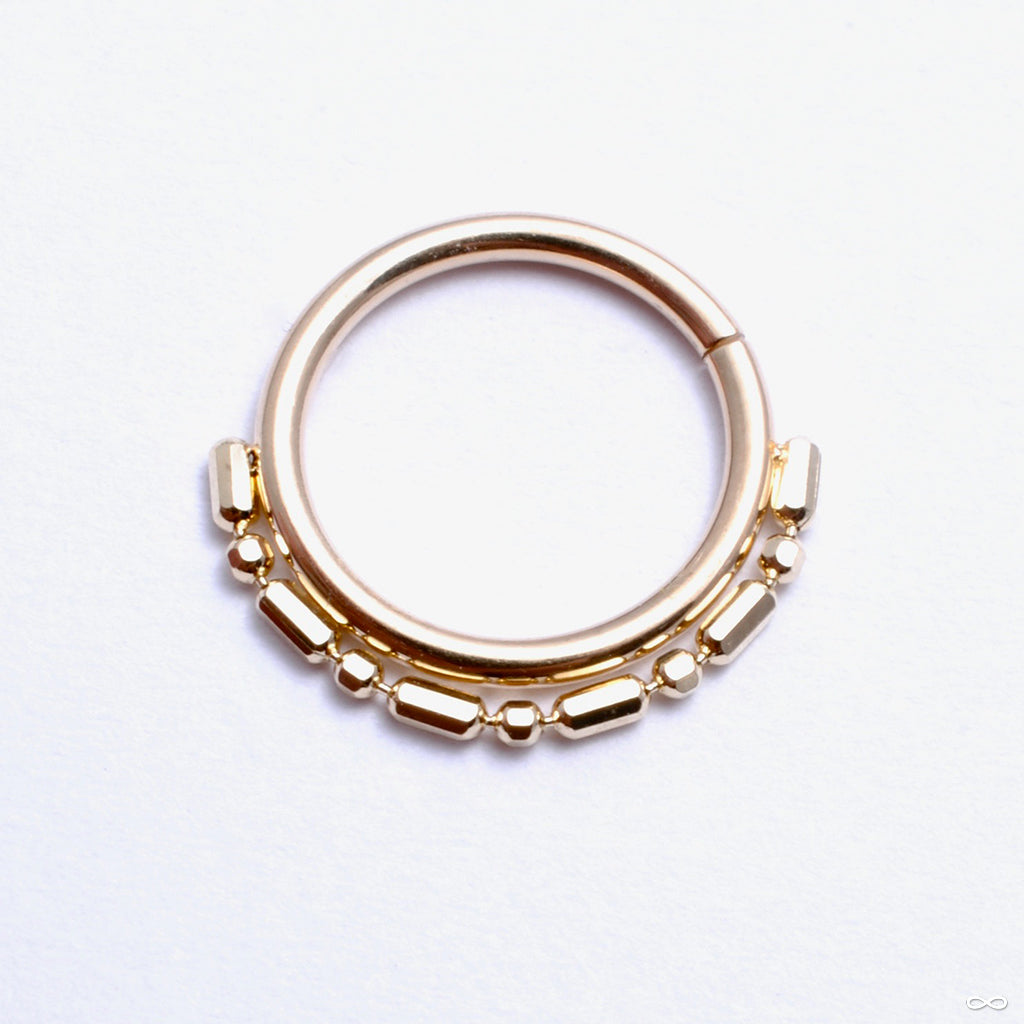 Cleo Beaded Seam Ring in Gold from Pupil Hall in yellow gold