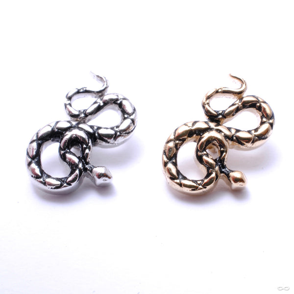 Coiled Snake Threaded End in Gold from BVLA in assorted materials