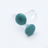 Color Front Plugs from 12g to 4g from Gorilla Glass in Aqua