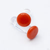 Color Front Plugs from 12g to 4g from Gorilla Glass in Orange