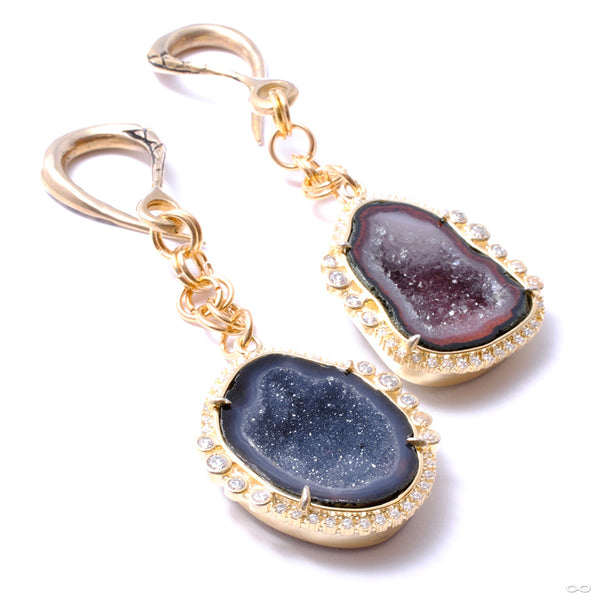 Crossovers with CZ Lined Black Druzy from Oracle